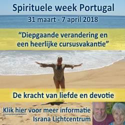 Banner van Spirituele week Portugal