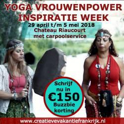 Banner van Yoga Vrouwenpower inspira