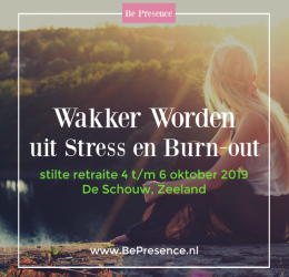 Wakker worden uit Stress&Burn-Out (Stilte Retreat)